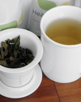 #healthandtea porcelainmug with infuser