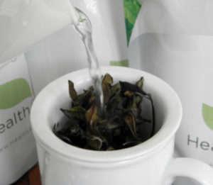#healthandtea porcelain mug with infuser -2