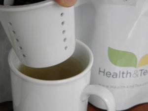 #healthandtea porcelain mug with infuser