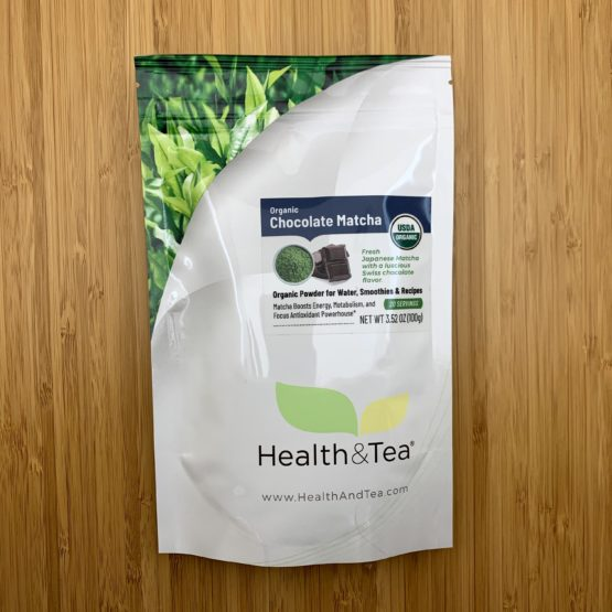 Health&Tea Chocolate Matcha Front Bag