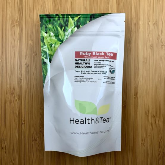 Health&Tea Ruby Black Front
